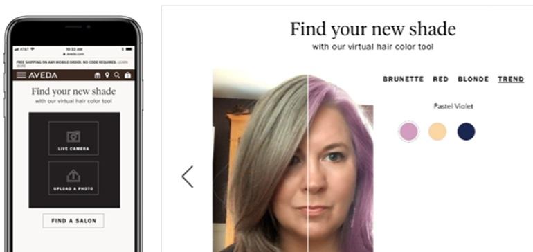 Aveda taps AI for virtual hair color sampling