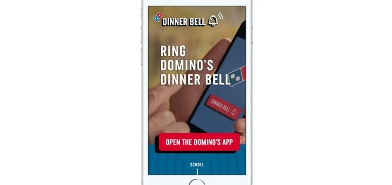 Domino's mobile app rings in new virtual dinner bell