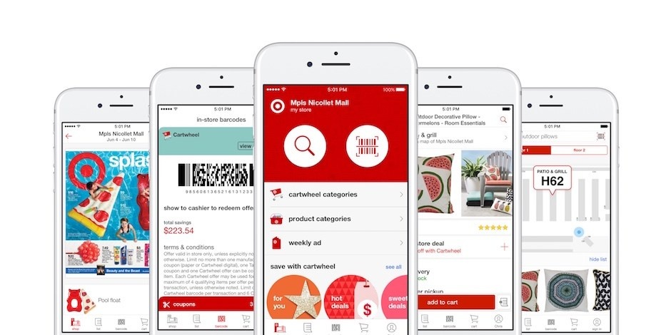 Target's app to guide customers through stores and to deals