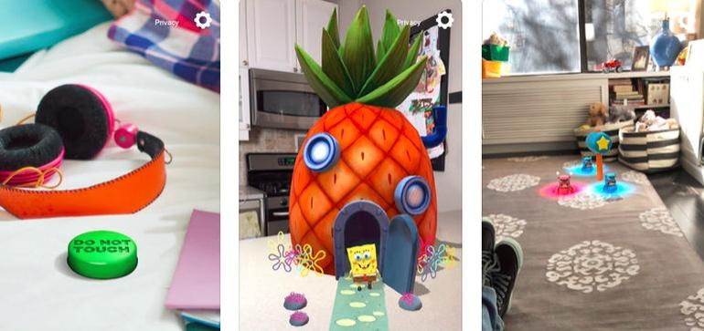 Nickelodeon brings AR to 2 mobile apps