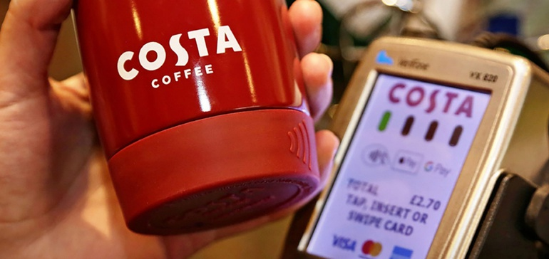 Costa Coffee travel mug doubles as contactless payment method